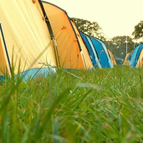 2 man tents grass